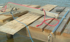 Kite control bar for kite boating , kite sailer