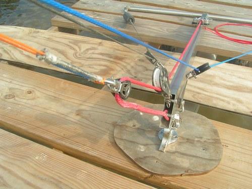 Kite control bar for kite boating , kite sailer
